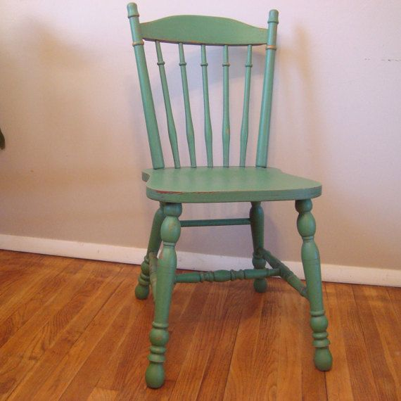 Custom Painted And Distressed Wood Farm Chair, Vintage Farmhouse Chair,  Painted Dining Chair, Wood Kitchen Chair, Yellow, Red, Blue, Green | See  Etsy ...