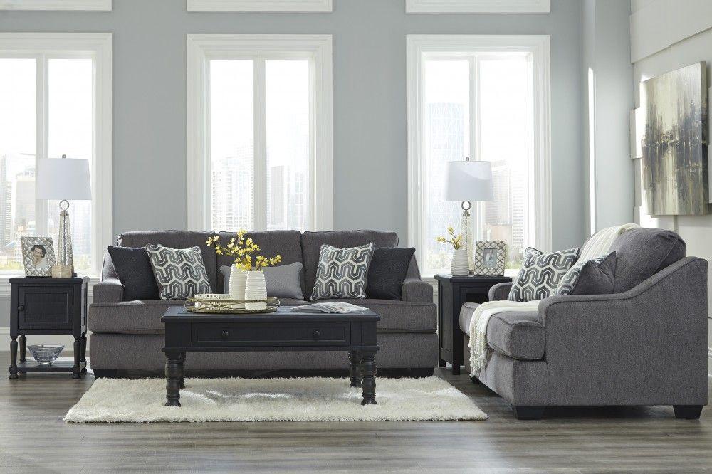Gilmer - Gunmetal - Sofa & Loveseat | living room groups ...