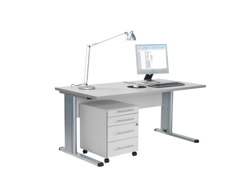 Schreibtisch und Rollcontainer Office-Grau von Schäfer Shop ...