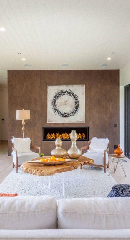 Un salon au style brut et rustique. l aménagement pour salon l ...