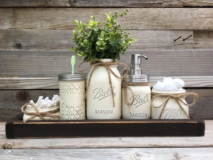 rustic bathroom decor sets. Etsy Rustic Bathroom Decor  Farmhouse Mason Jar Set Southern I may receive compensation from the affiliated link rustic bathroom decor farmhouse ball jar