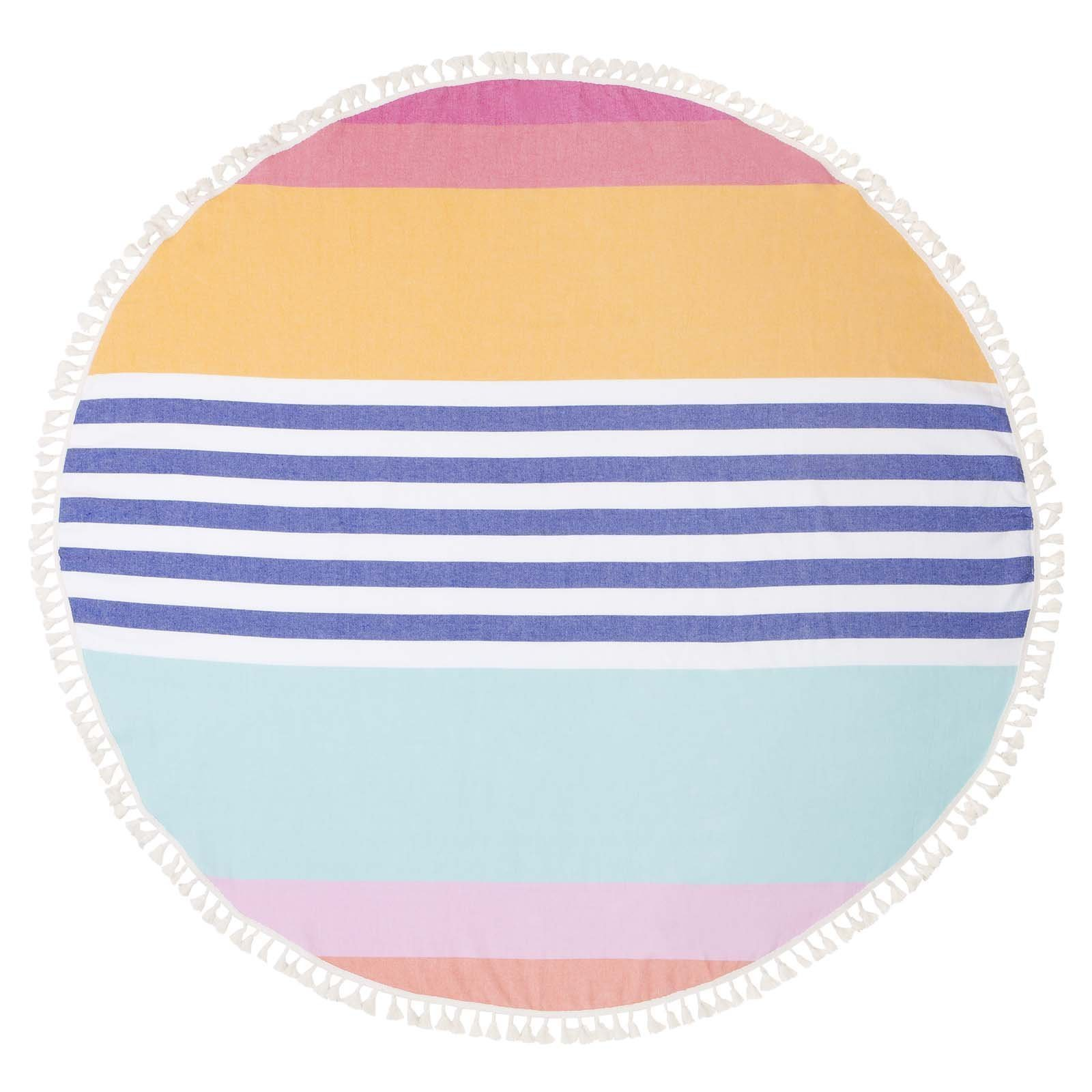 Garden Supplies Sunny 2018 Newest Printed Unicorn Round Beach Towel Microfiber Beach Towels Roundie For Adults Serviette De Plage With Traditional Methods