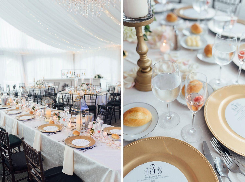 Blush and gold wedding reception inspiration gold lanterns