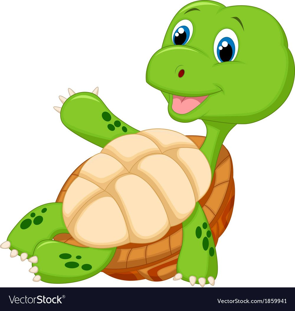Vector Illustration Of Cute Tortoise Cartoon Relaxing Download A Free Preview Or High Quality Adobe Illustrator Cute Tortoise Cute Turtle Cartoon Cute Turtles