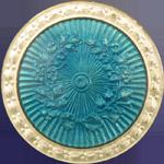 Antique guilloche enamel button.