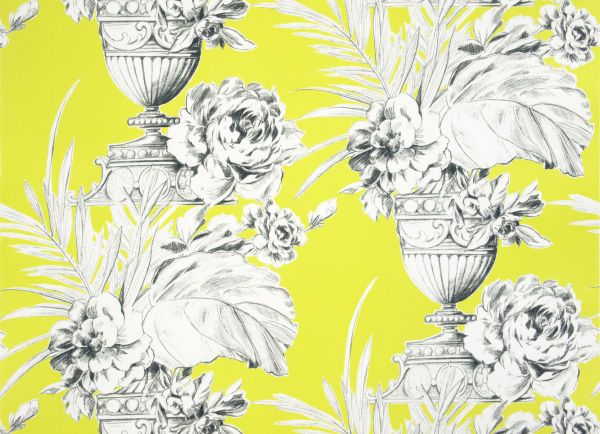 Palmieri Chartreuse fabric by Zelphirine Fabric for Designers Guild