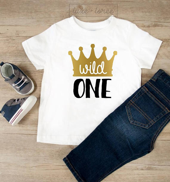 Wild One Birthday Boy Shirt 1st Outfit