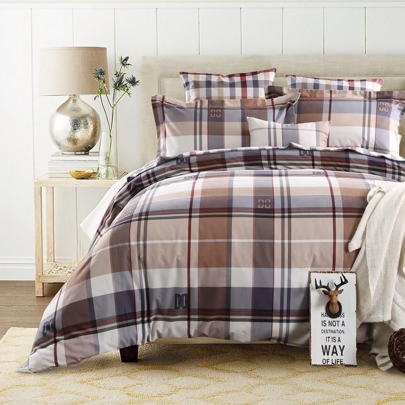 Superb Brown Plaid Duvet Cover Sweetgalas