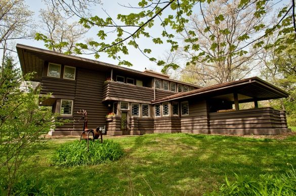 Frank Lloyd Wright Prairie Houses lloyd wright's illinois millard house for sale at $1.25 million