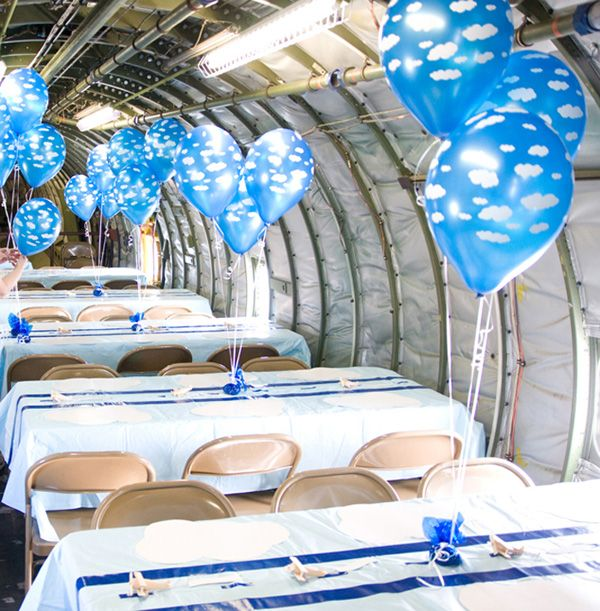 Vintage Airplane Inspired Birthday Party Rainbow parties