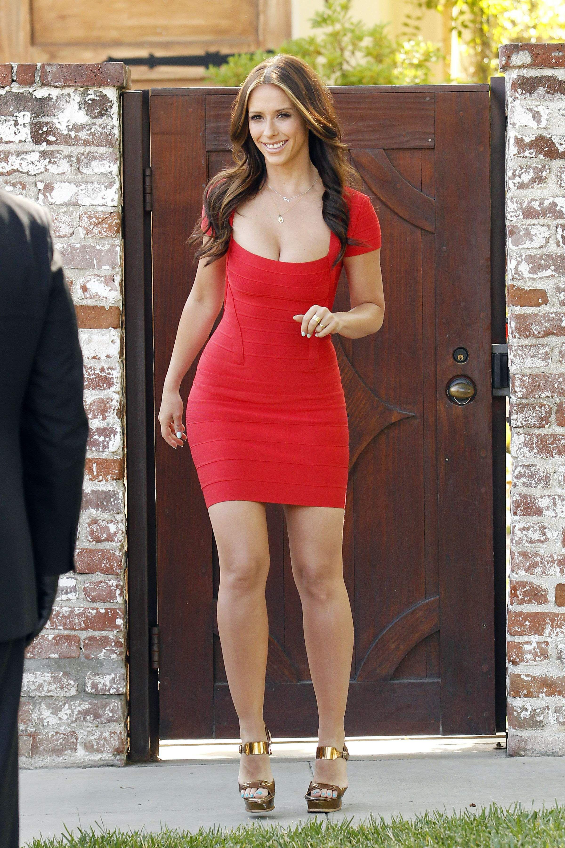 Jennifer Love Hewitt Red Cap Sleeve Dress Jennifer Love Jennifer Love Hewit