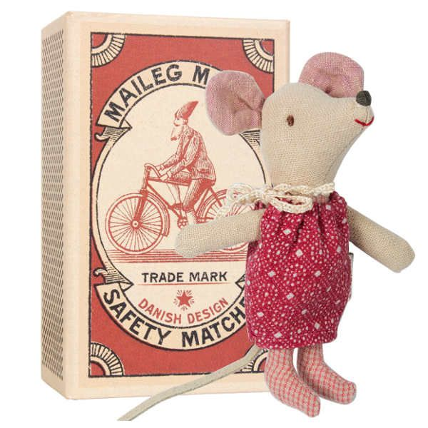 Maileg Little Sister Christmas Mouse in a Box
