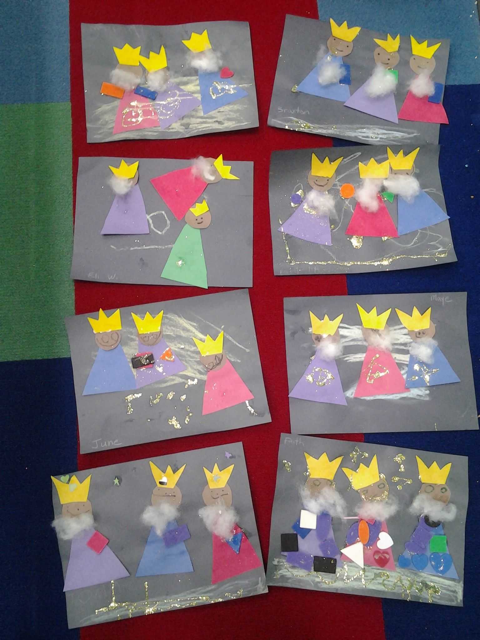 we three kings kg finished crafts Pinterest
