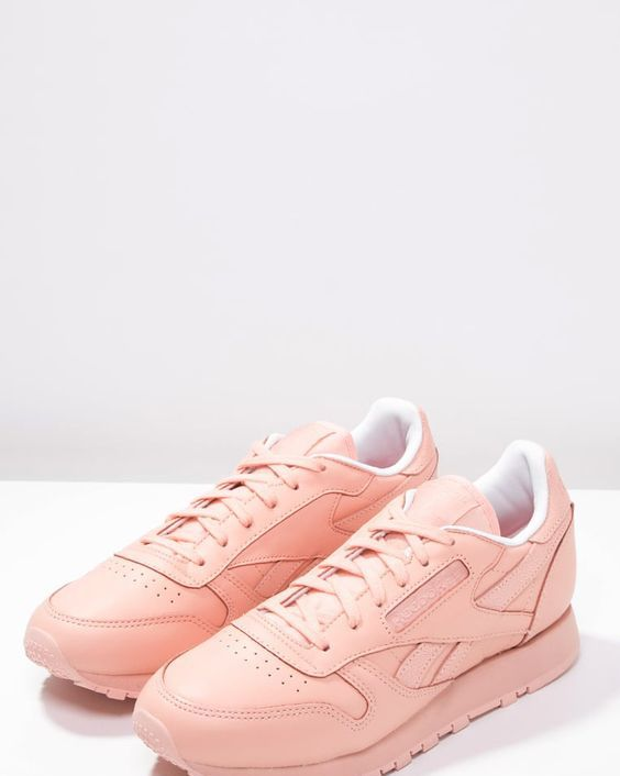 Reebok Classic CLASSIC SPIRIT - Trainers - desert stone/white/rosette for  with free delivery at Zalando