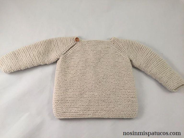 Patrón gratuito jersey bebe - baby sweater free pattern | Ganchillo ...