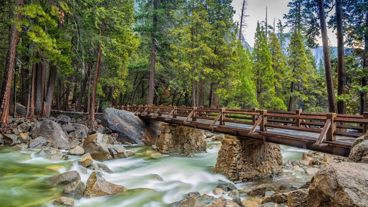 Yosemite 5k Wallpapers Forest OSX Apple Mountains Bridge