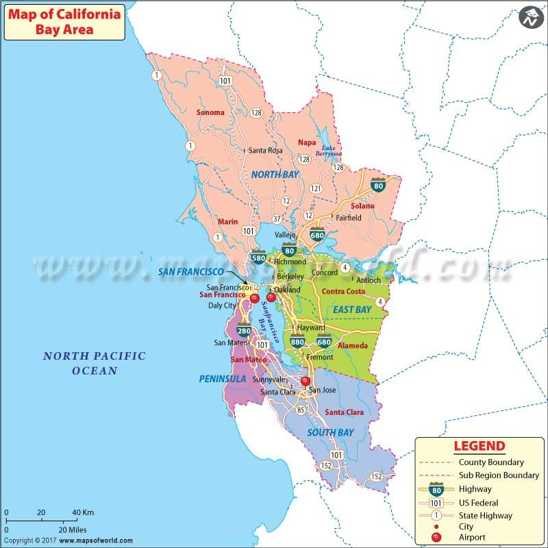 Map Of California Usa.California Bay Area Map Usa Maps California Map Area Map Map