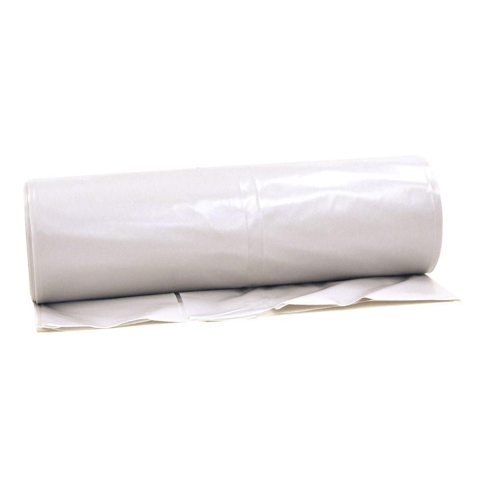 Hdx 20 Ft X 100 Ft Clear 6 Mil Plastic Sheeting Cfhd0620c The Home Depot Clear Plastic Sheets Plastic Roofing Corrugated Plastic