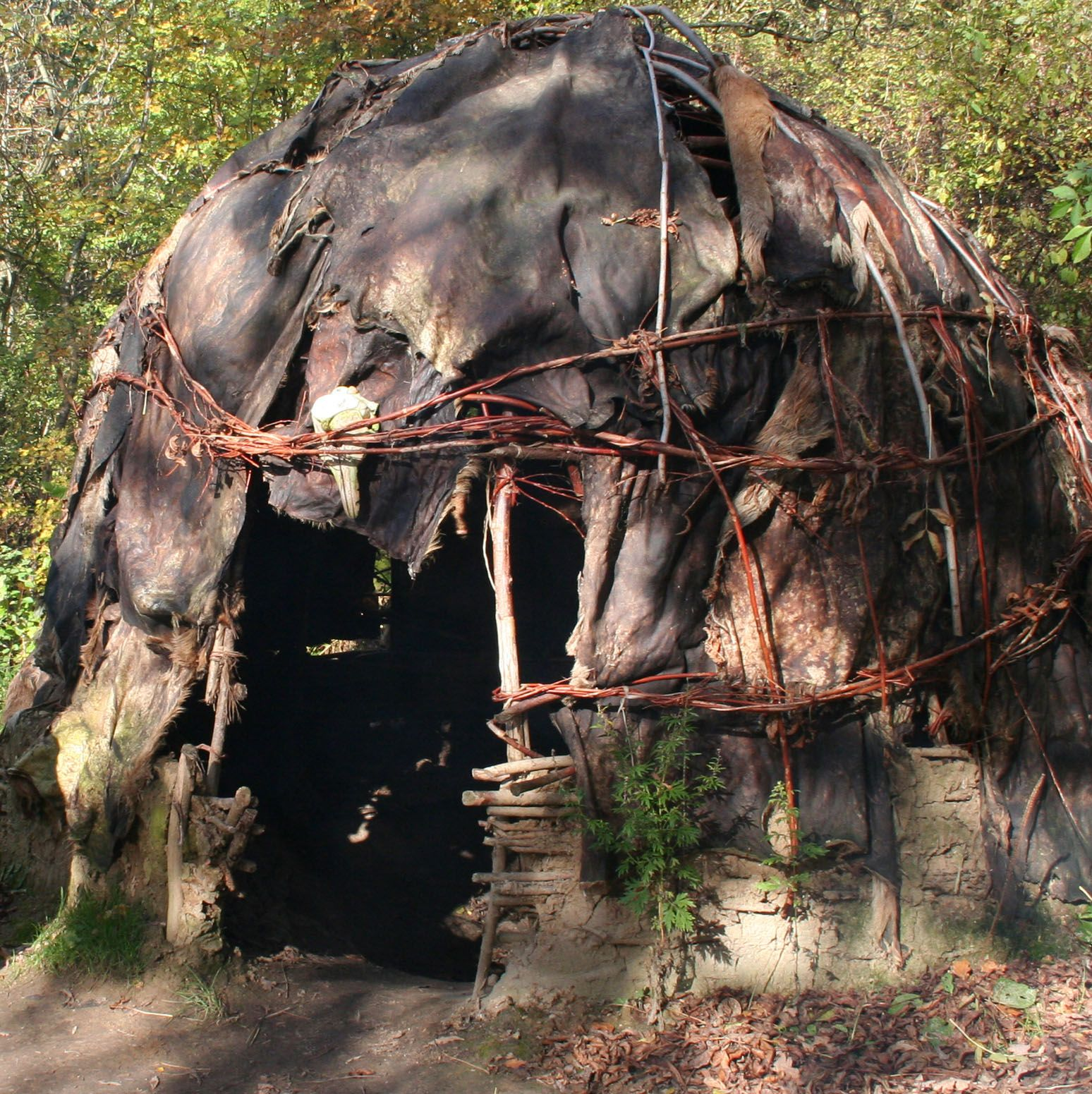 Reconstructed Danish Stone Age Hut Erteb Lle Culture