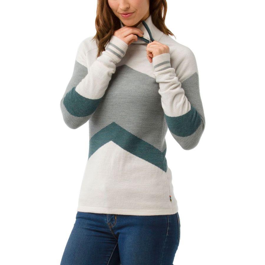 1a5219ada18ef9 Smartwool - Dacono Ski Funnel Neck Sweater - Women's - Moonbeam Heather