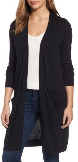 Women's Halogen Long Open Front Cardigan // 2017 Nordstrom ...
