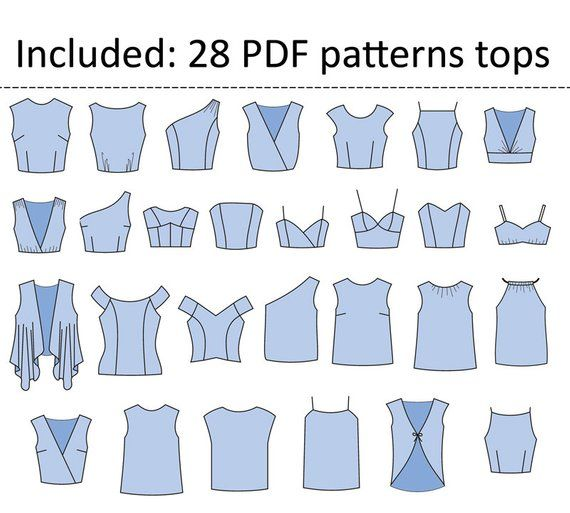 15 basic PDF sewing patterns for women | PDF patte