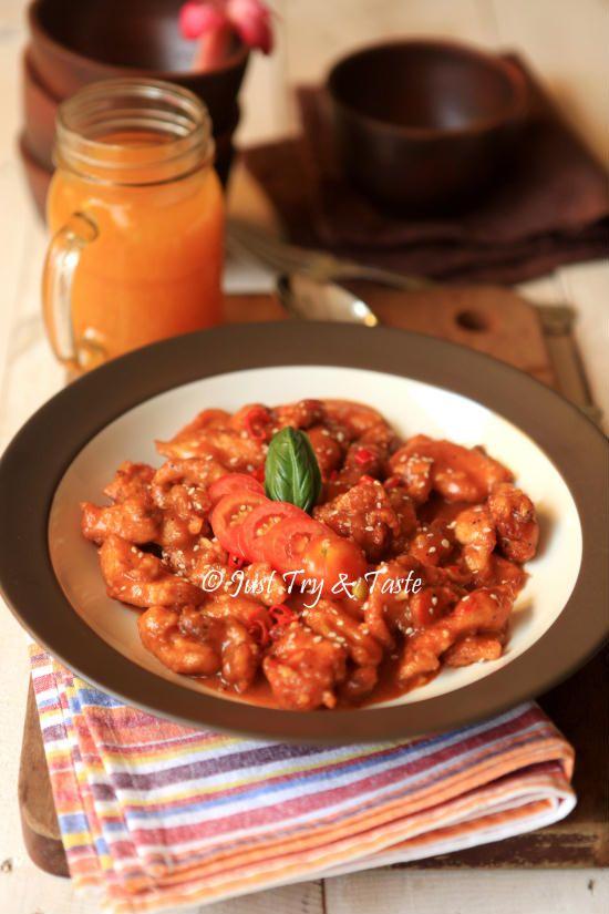 resep ayam saus jeruk jtt resep ayam resep makanan resep masakan asia Resepi Laksa Vegetarian Enak dan Mudah
