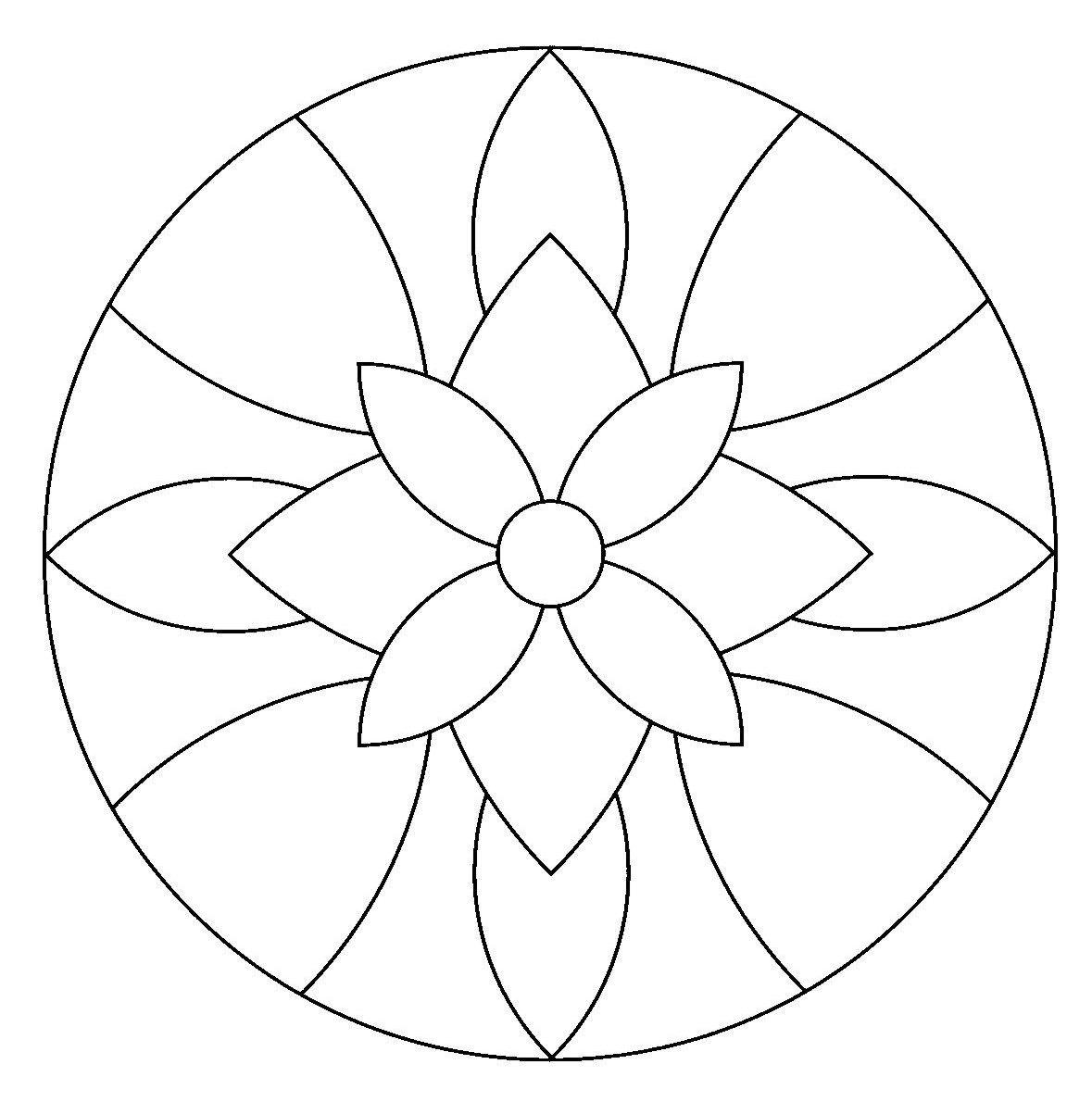 Dibujos De Mandalas Simples Imagenes De Mandalas Mandalas Para Colorear Mandalas
