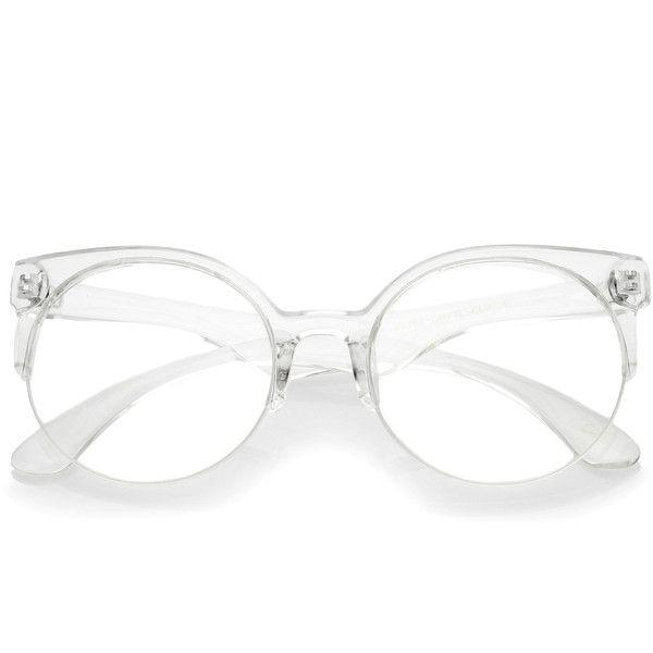 Modern translucent half frame clear lens glasses a963 (900 INR ...