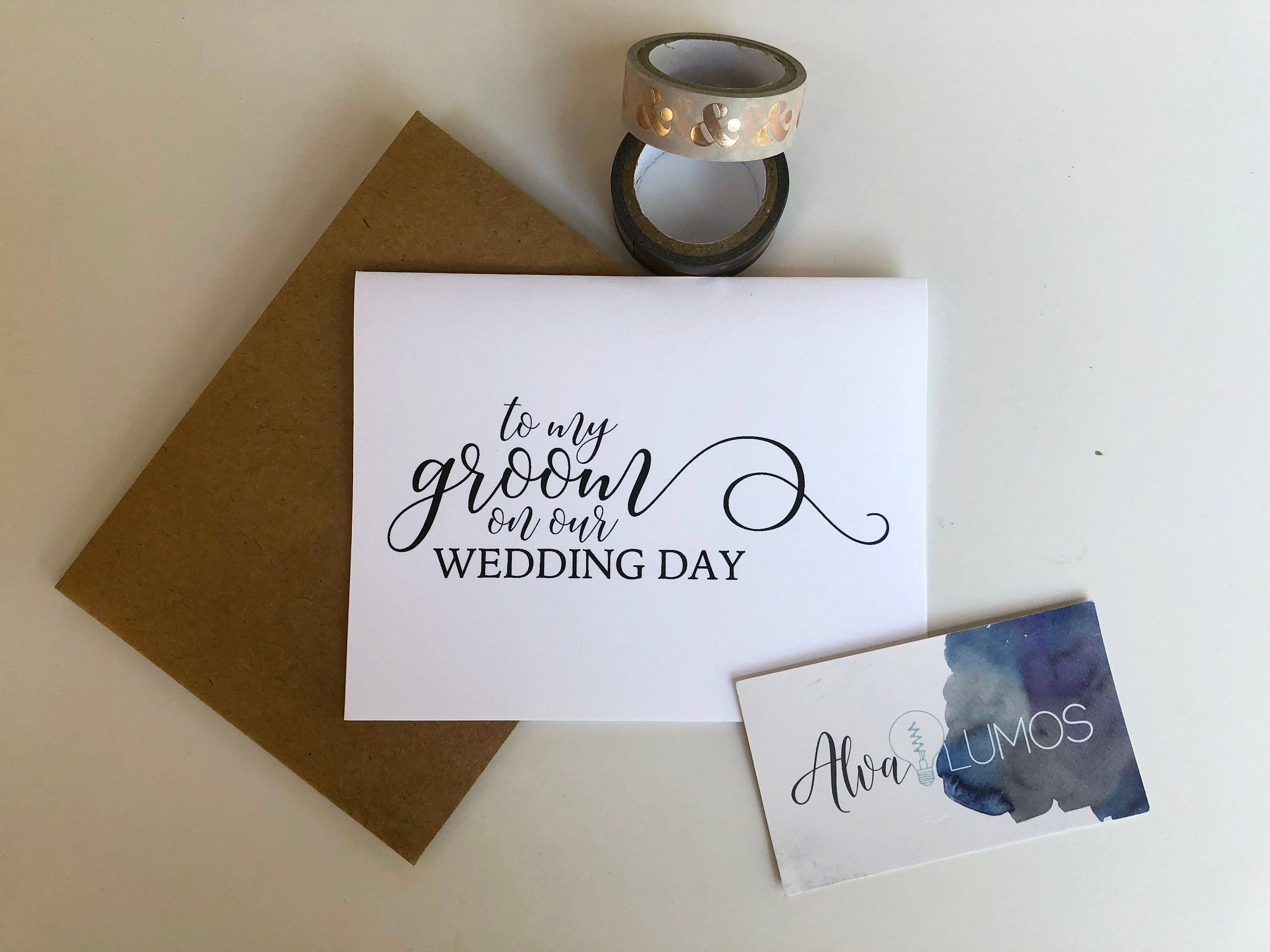 wedding card to your groom on your wedding day love note