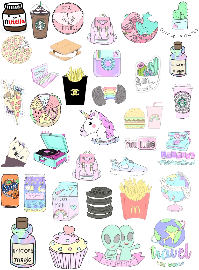 Girly Stickers Girly Stickers In 2020 Tumblr Stickers Print Stickers Iphone Case Stickers