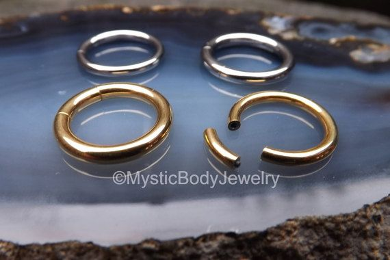 $18.95 12g Gold Septum Segment Ring 10g 1/2 Silver by MysticBodyJewelry