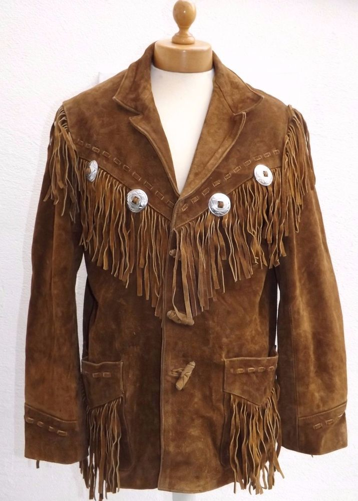 Women/'s Handmade Traditional Western cowboy Leather Style Fringed Jacket