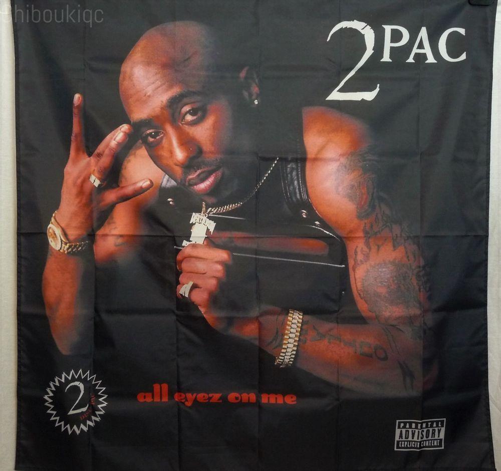 2PAC TUPAC SHAKUR All Eyez Me HUGE 4X4 BANNER Poster Tapestry