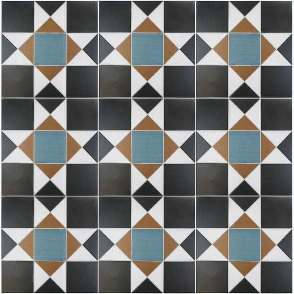 SomerTile 13 x 13-inch Narcissus Nouveau Porcelain Floor and Wall Tile (Pack of 10)