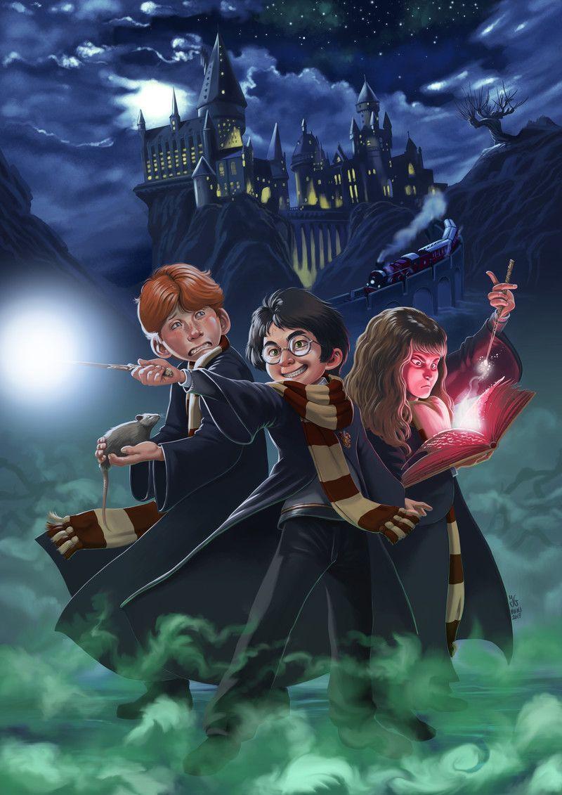 Fanart Harry Potter J G Miedes Harry Potter Illustrations Harry Potter Cartoon Harry Potter Drawings