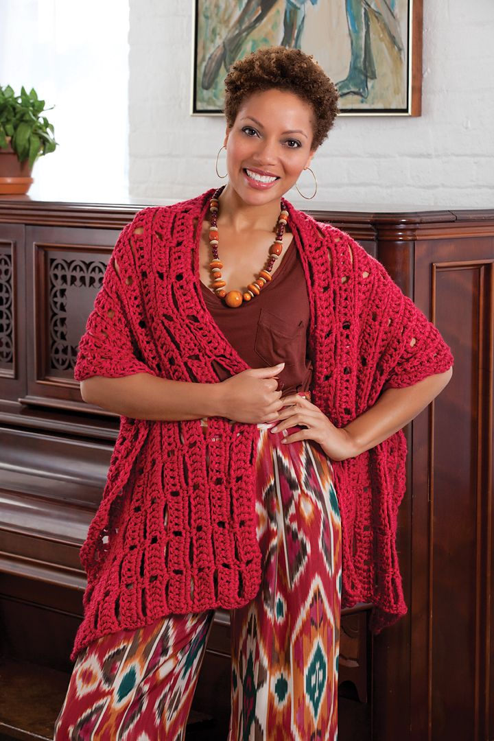 Wrap-sody In Red Wrap By Erika And Monika Simmons - Free Crochet ...