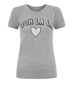 Teens Grey Ooh La La T-Shirt    New Look