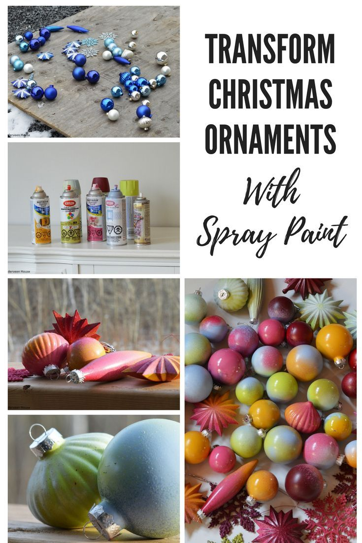 How To Spray Paint Christmas Ornaments Painted Christmas Ornaments Christmas Ornaments Christmas Tree Painting