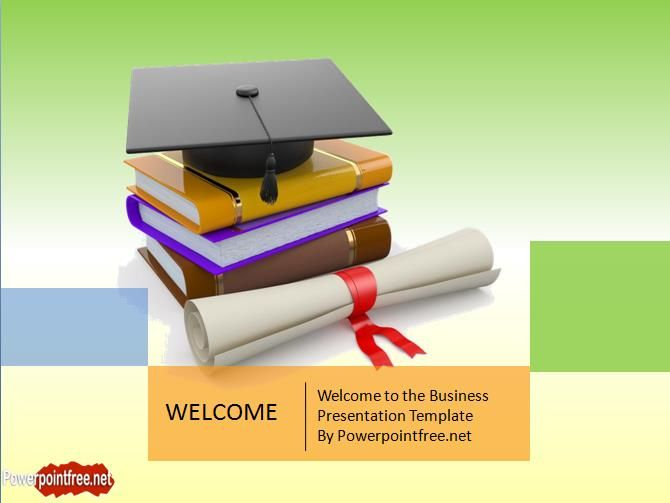 Education PowerPoint Template About Graduation Projects to Try