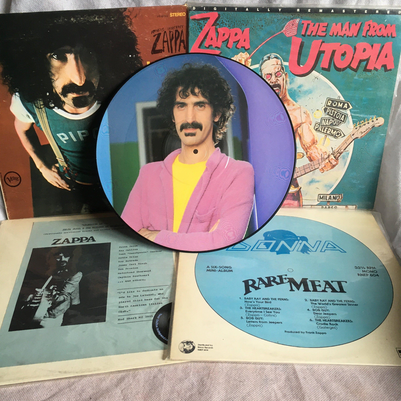 Frank Zappa Rare Meat And Necessity Is Lumpy Gravy The Etsy Zappa Pink Napkins Frank Zappa