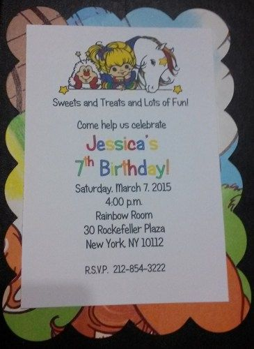 Rainbow Brite Invitations Made From Vintage Books Picture 4 Listing Is For 10 E Mail Me If Youd Like A Different Quantity