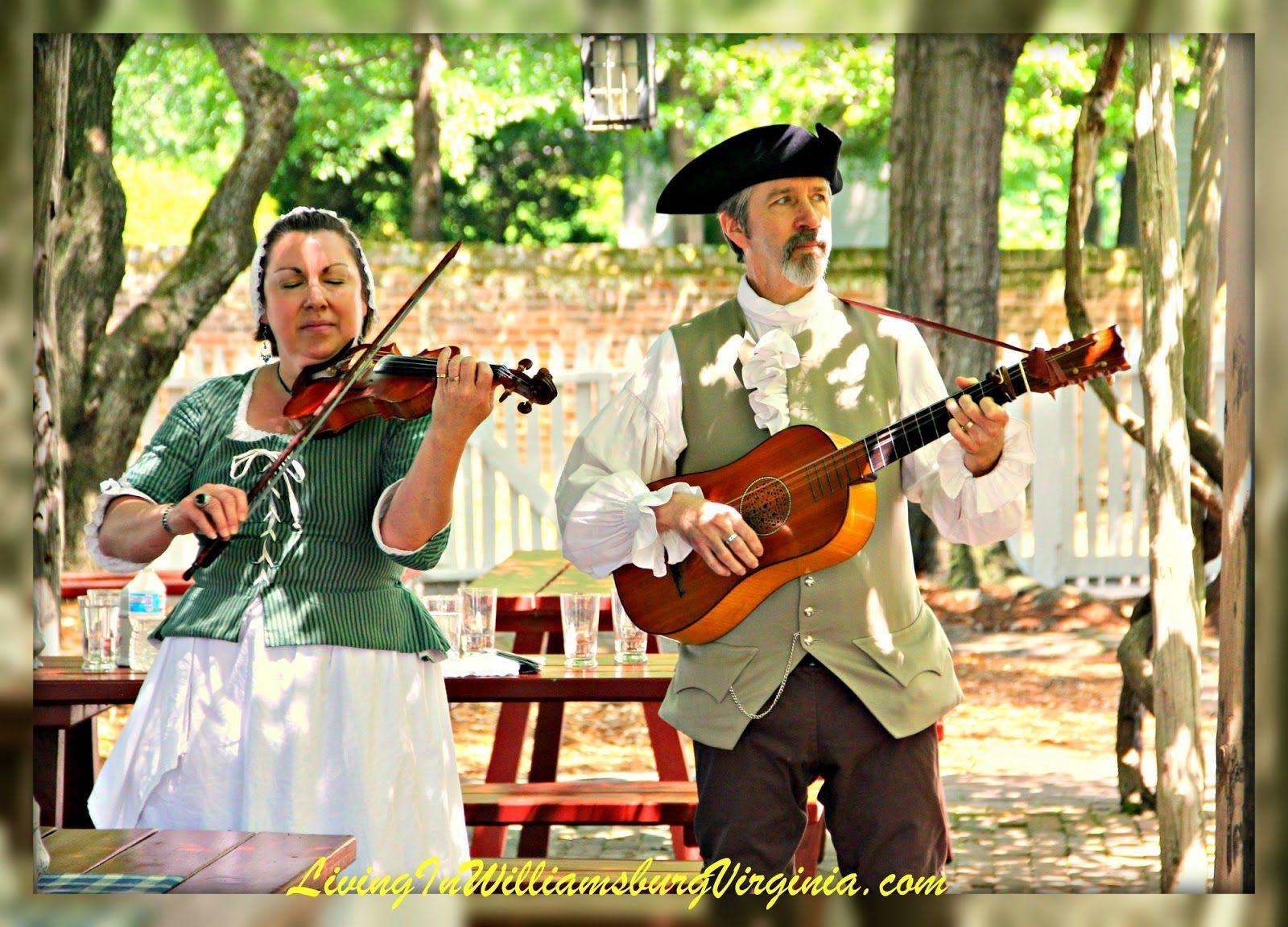 Dinner music colonial williamsburg va musicians play for Christina campbell tavern