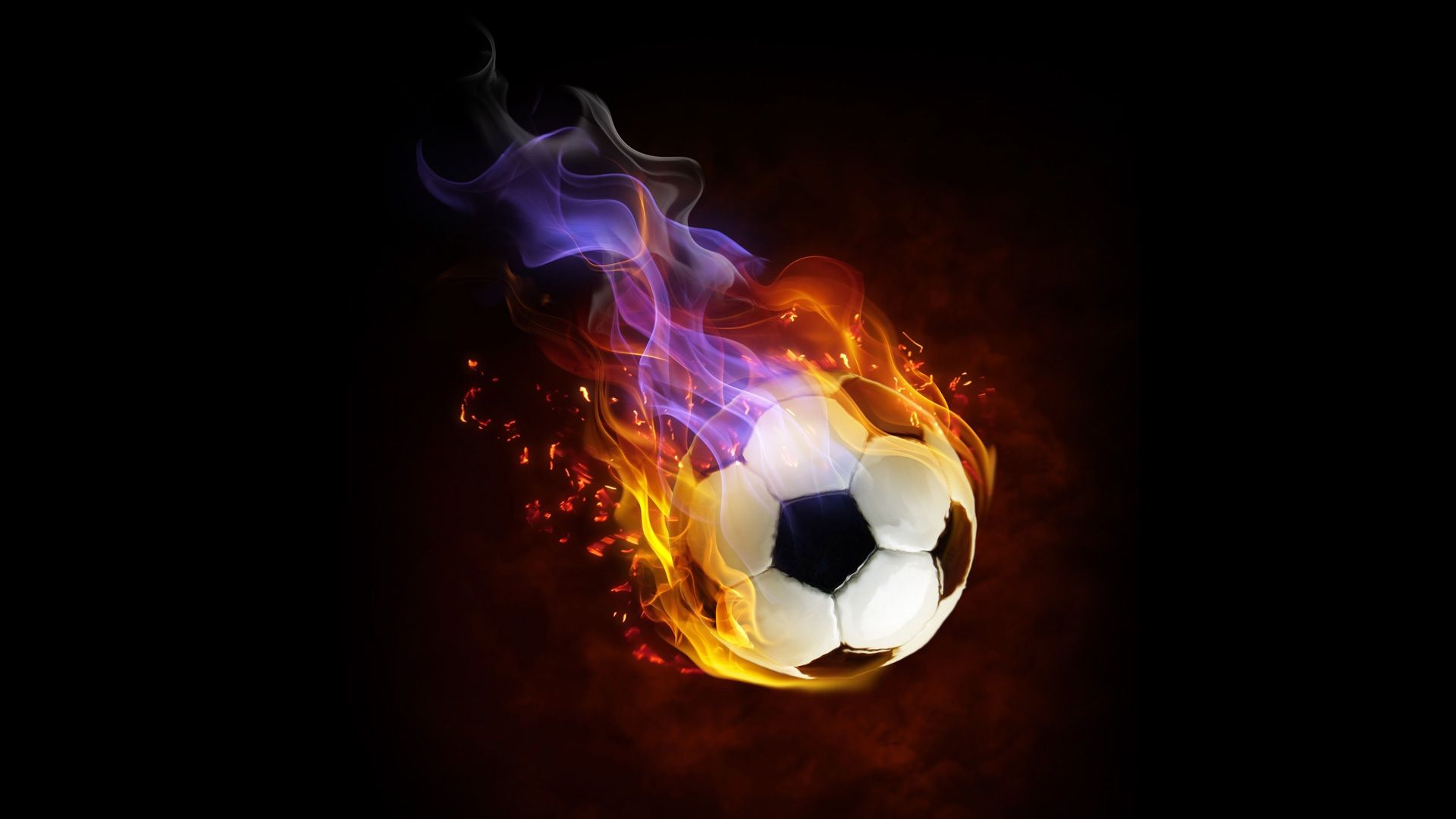 Ball Fire Colorful Football Abstract Wallpaper Id 6364 Download Page