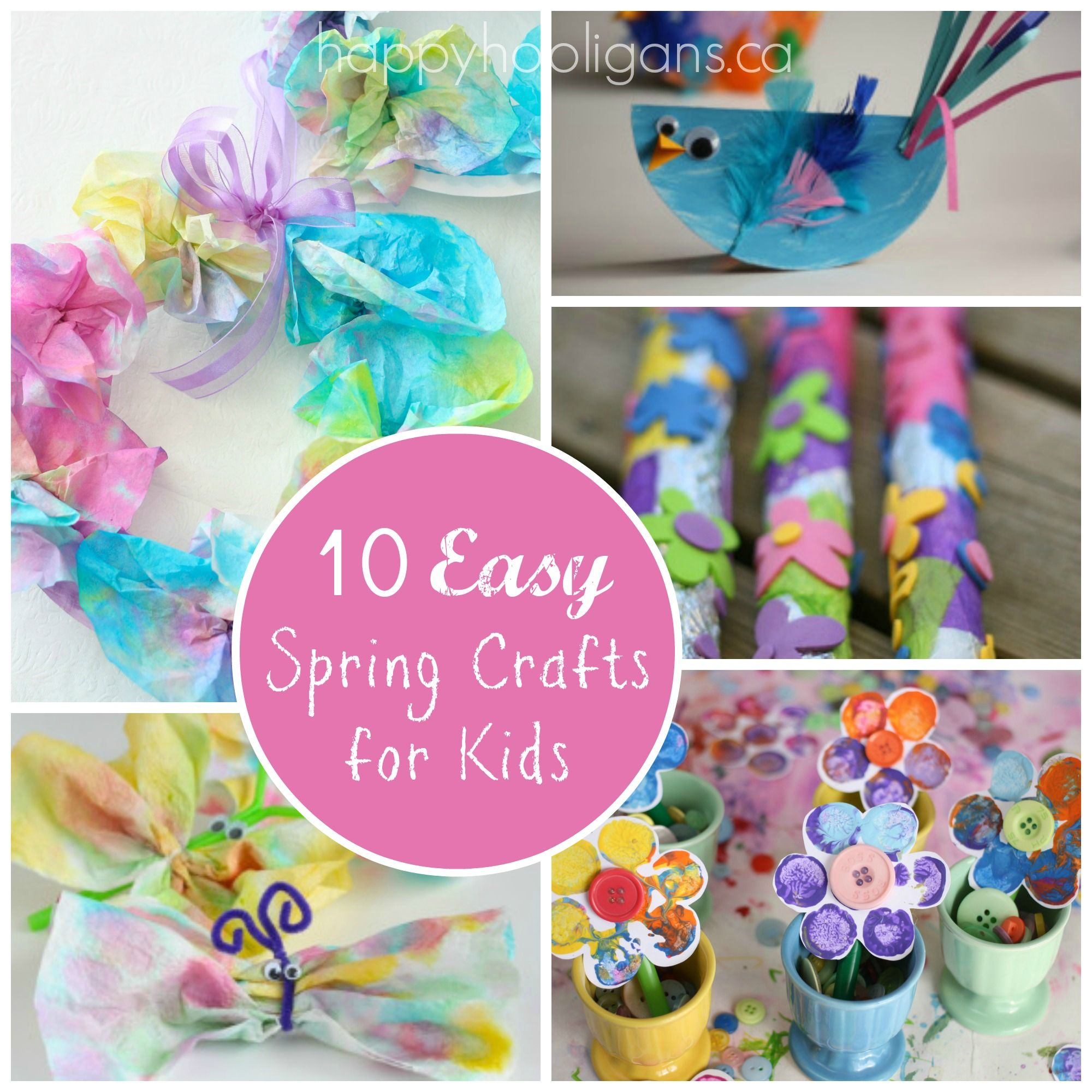 Featured 5 Spring Projects: Spring Break Kids Activity Ideas
