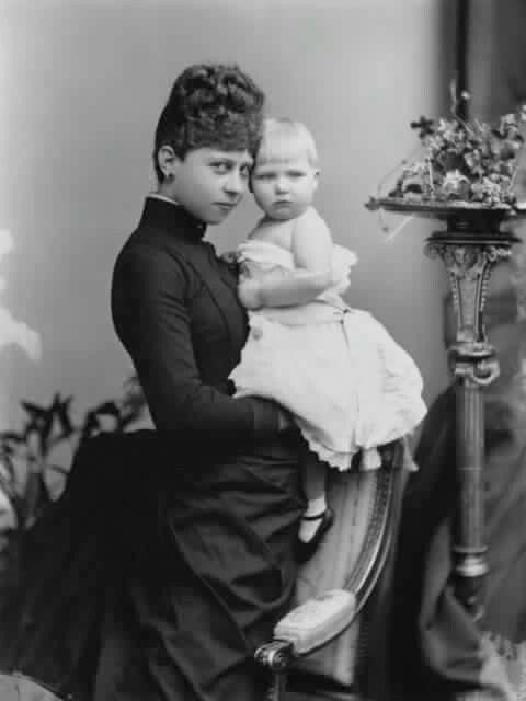 Cousins Princess Victoria of Prussia & Ena of Battenberg   1888
