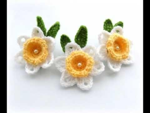 Flores Tejidas A Crochet Sencillas Youtube Pinterest