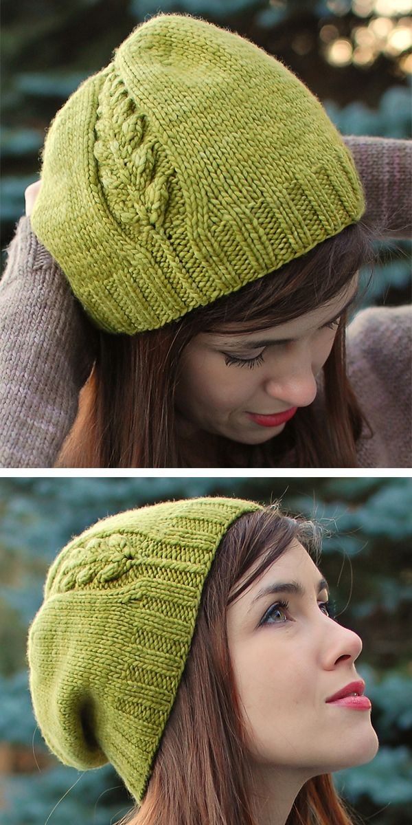 Photo of Side Detail Hat Knitting Patterns