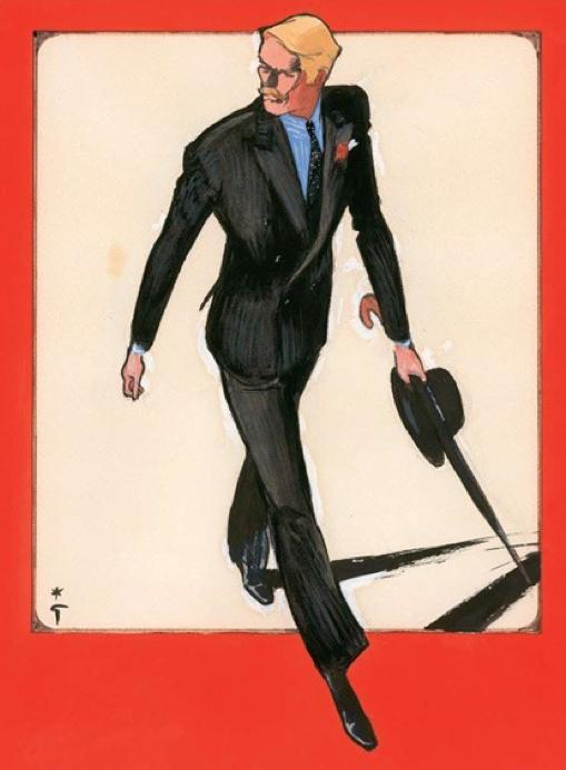 #Men_fashion illustration by René Gruau. | RENE GRUAU ...