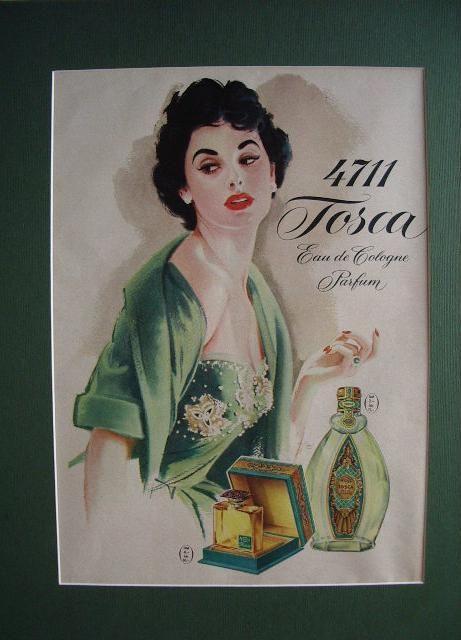 4711 tosca vecchia stampa pubblicitaria | Illustrazioni